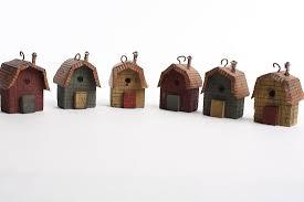 primitive wooden birdhouse ornaments garden miniatures