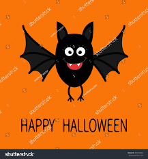 black cat halloween background happy halloween card cute cartoon bat stock vector 472980850