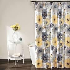 Yellow Curtain Shower Curtain Yellow And Gray Walmart