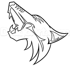 how to draw the arizona coyotes logo step by step sports pop