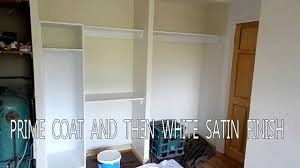 Wall Wardrobe by Diy How To Fit Sliding Doors Wall To Wall Youtube