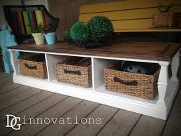 Coffee Table With Baskets Underneath Dg Innovations Coffee Table Upcycle To Distress Or Not Distress