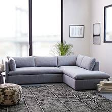 Charcoal Gray Sectional Sofa Chaise Lounge Modern Sectional Sofas West Elm