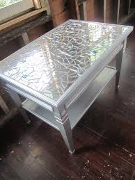 Metallic Coffee Table by Mosaic Mirror Metallic Silver Coffee Table Or Side Table Glass