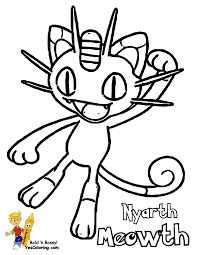 pokemon meowth coloring pages images pokemon images