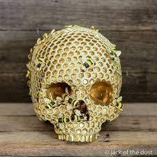 this custom human skull is the mix between creepy and
