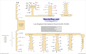 Los Angeles Airport Map by Delta Virtual Destinations