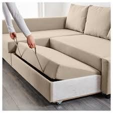 FRIHETEN Corner Sofabed With Storage Skiftebo Beige IKEA - Chaise corner sofa bed