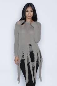 black fringe sweater sweaters cardigans kloset envy
