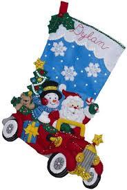 bucilla christmas bucilla drive christmas felt applique kit 86451