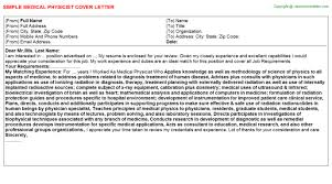 medical physicist cover letter