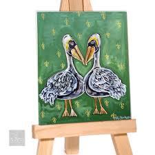 pelican hearts archival print prefect for home decor or gift