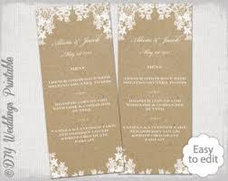 Wedding Menu Template Cocktail Menu Template Printable Gold Wedding Signature Drinks