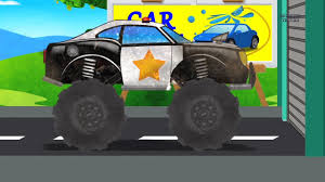 monster truck cartoon videos monster truck car wash police monster truck trucks cartoon