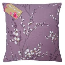 hand made laura ashley willow grape purple cushion cover in