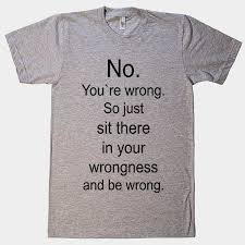 Funny Meme Shirts - no you re wrong so just sit there and be wrong t shirt memes