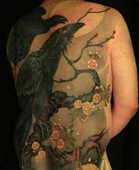 black crows on a flowering tree tattoos book