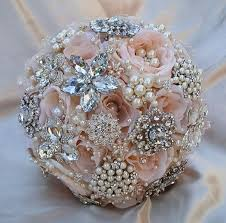 pink brooch bouquet deposit for this bridal brooch bouquet