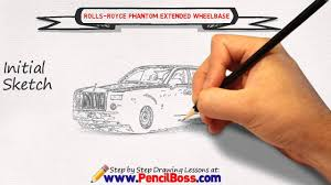 rolls royce logo drawing how to draw a rolls royce phantom extended wheelbase speed