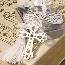 religious party favors cross bookmarks christening favors communion religious party