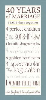 40th wedding anniversary gifts for parents 3 year wedding anniversary gifts 40th wedding anniversary