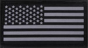 Army Uniform Flag Patch U0026 Silver Subdued Reflective American Flag Hook Back Flag Patch