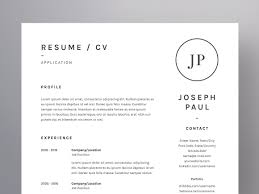 Examples Of Resumes For Retail by Joseph Paul Resume Cv Template Resume Templates Creative Market