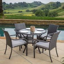 Rattan Patio Dining Set Best Selling Home Lakeside 5 Wicker Patio Dining Set
