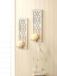 Large Candle Sconces For Wall Venetian Mirror Candle Wall Sconce Mirrored Candle Sconce Target