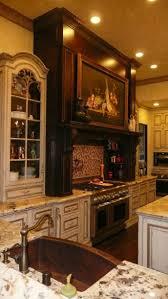 custom kitchen fresh plants decor on top wooden cabinet