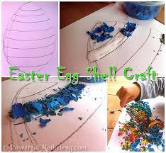 Seashell Craft Ideas For Kids - easter egg shell craft