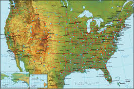 list of us states united states elevation map us elevation and elevation maps of