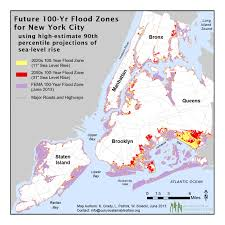 100 Year Floodplain Map Climate Effects On Nyc May Move Faster Than Previously Forecast