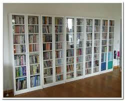 Bookcase With Glass Doors Wood Bookshelves With Doors Diy Door Projects Corner Bookshelf