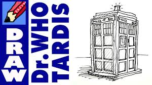 how to draw the tardis real easy youtube