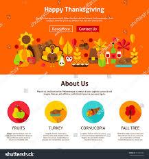 web design happy thanksgiving vector illustration stock vector