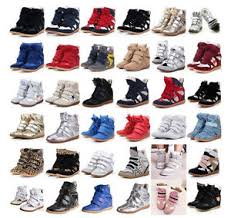 womens boots velcro s high top velcro wedge heel sneaker boots