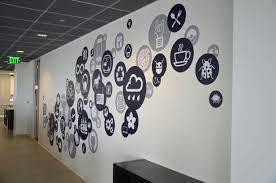 office wall art teknoloji şirketlerinin duvarları için logo çizimleri wall