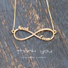 infinity necklace with initials 3 names infinity necklace personalized from khandmadecreations on