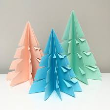 cheeky leopard origami christmas trees