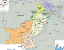 Political Map Asia by Map Of Pakistan And Pakistan Political Map Research Material