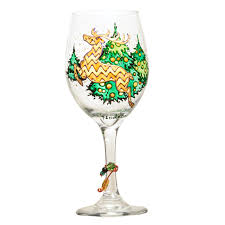 reindeer wine glass custom wine glasses design personalized