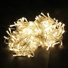 pms 300 led 32m warm white string fairy lights on clear cable with