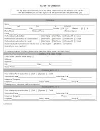 Patient Information Sheet Template Open Dental Manual Registration Forms