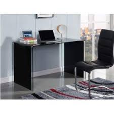 bureau en verre noir marque generique bureau ortigia verre trempé noir 120cm x 75cm