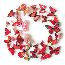 Butterfly 3d Wall Art by Aliexpress Com Buy 12pcs Set Beautiful Art Design 3d Multicolor