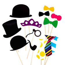 Photo Booth Accessories Paper Photo Booth Props Moustache Mask Bow Lips Hat On Amazon Co