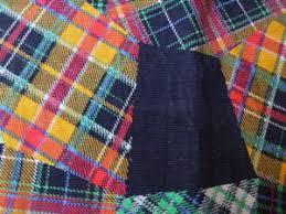 Muster Blau Grün Schottenkaro Bedruckt Needlecord Patchwork Muster Sehr