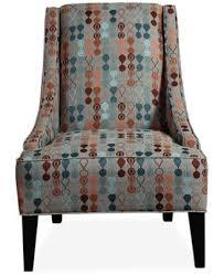 Retro Accent Chair Keegan Fabric Retro Accent Chair Furniture Macy S