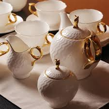 tea set bone china ceramic tea set 15 pieces coffee sets milk bowl